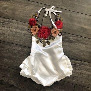 Floral Infant Summer Jumpsuit Romper